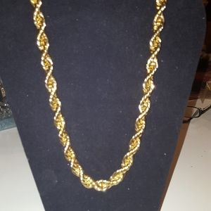 18in Gold Tone Thick Rope Necklaces Chain NEW .5i